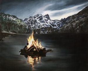 Invierno, óleo sobre lienzo