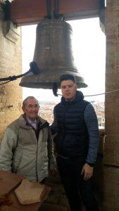José y Oscar Castro en el campanario.