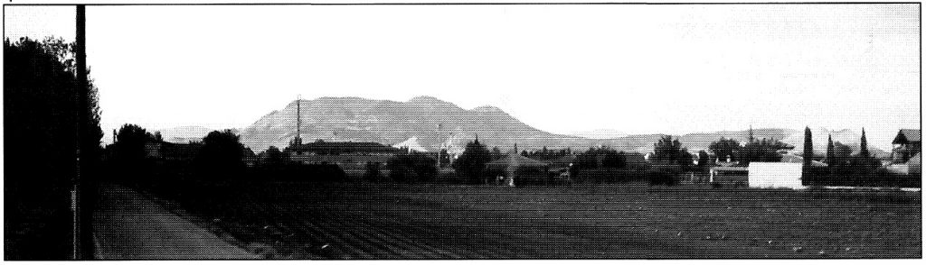 Figura 4. Vista actual de Santa Fe desde el Camino de Santa Teresa, al suroeste de la ciudad. García Pulido y col. (2004).