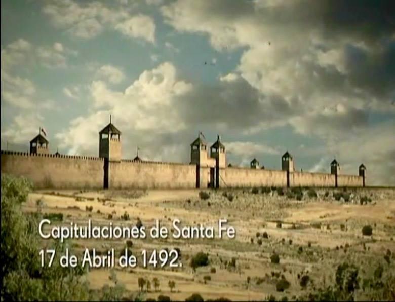 Recreación del Real de Santa Fe en la serie de Televisión Española