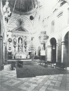 Figura 3. Iglesia del Convento de Santa Fe, regentada por la Compañía de María, en la primera mitad del siglo XX. Martínez Medina y col. (2009)