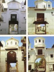 Figura 1. Las cuatro puertas de entrada al Real de Santa Fe.
