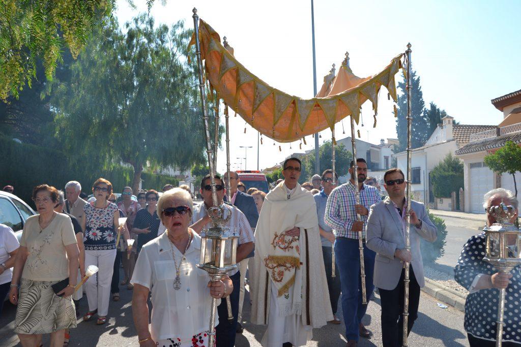 Momento de la procesión. Foto: Antonio Expósito Rodríguez.