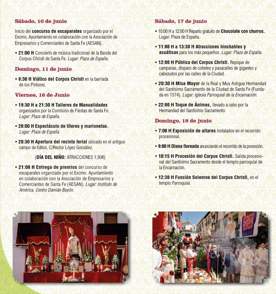 Programa Fiestas del Corpus