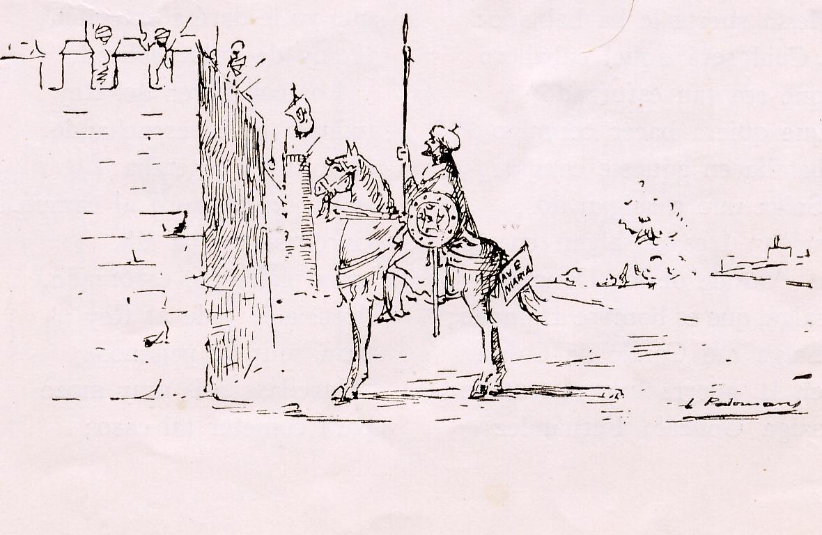 40 Viñeta I - Lance entre el Moro Tarfe y Garcilaso de la Vega