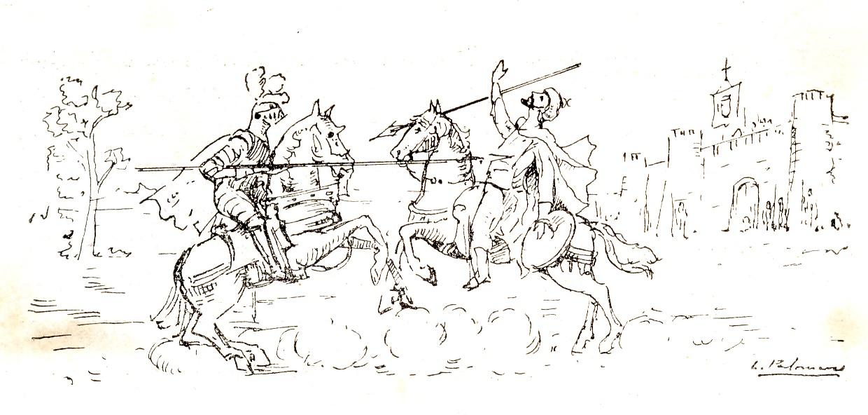 40 Viñeta II - Lance entre el Moro Tarfe y Garcilaso de la Vega