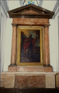 Figura 1. Retablo de Santiago el Mayor. Iglesia Parroquial de la Encarnación de Santa Fe. (http://www.iaph.es/patrimonio-mueble-andalucia/foto.do?id_pi=80546&id=ddc608c5-8e4c-4bbf-b601-d2b6396000d3&tipo_id=2)