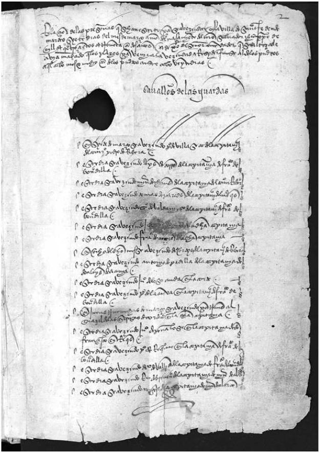 Figura 2. Libro de la Fundación de Santa Fe, 1492-1496. Archivo Municipal de Santa Fe