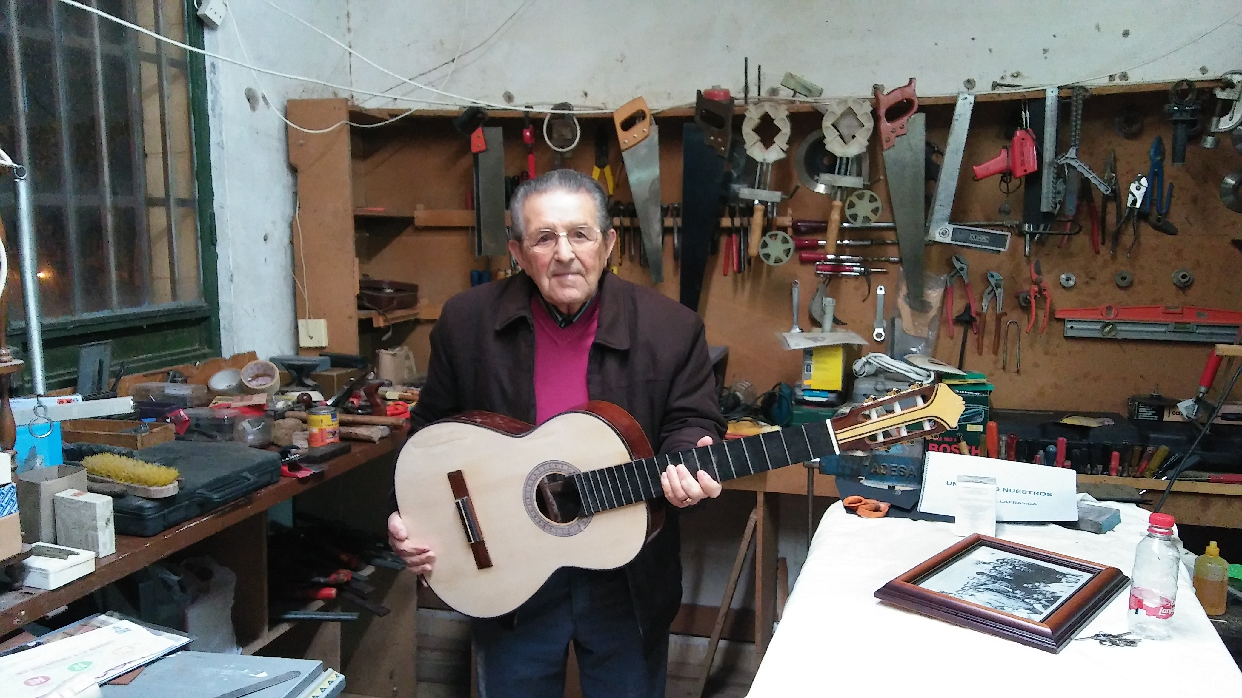 Manuel Villafranca en su taller